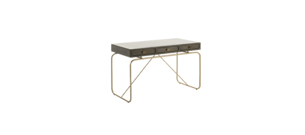 Thai Natura wooden gold legs base office table.
