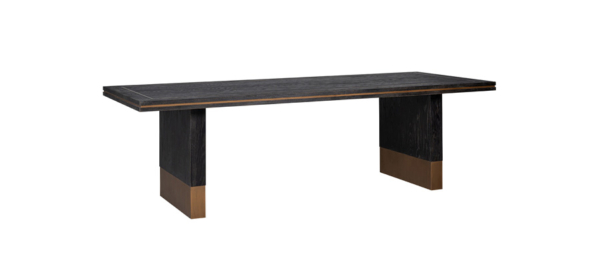Wooden gold dining table.